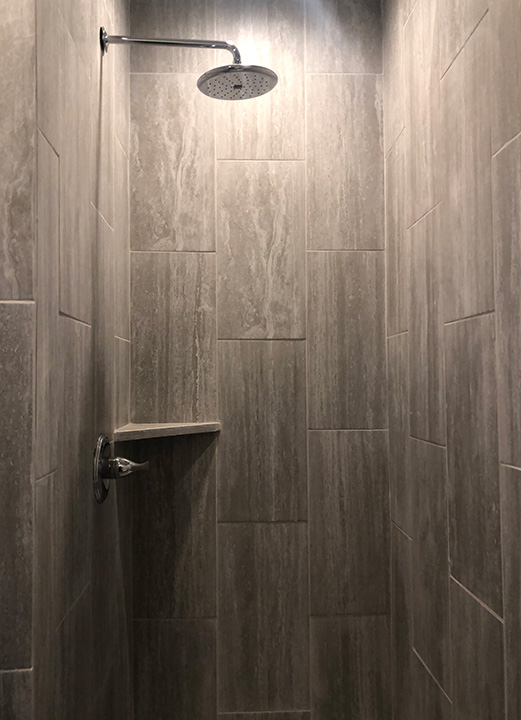 Modern Apartment Walk-In Shower