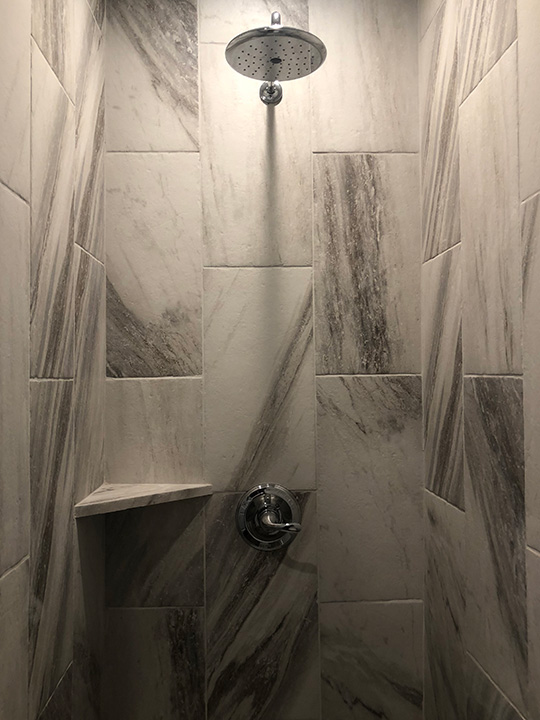 Upscale Showers are Standard